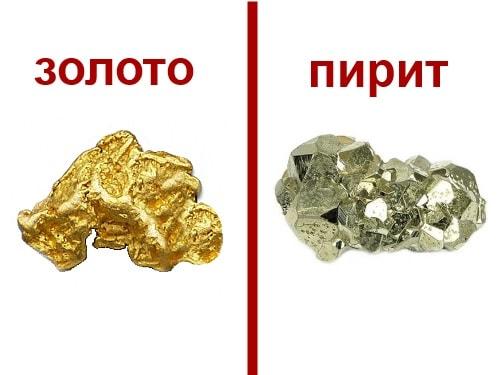 Как отличить пирит от золота в домашних условиях