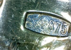 серебро 875 пробы