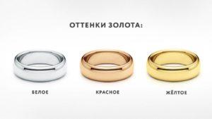 Красное, желтое и белое золото