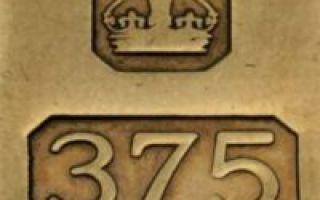 Какая цена золота 375 пробы в России