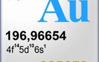 Химический элемент Au и как вычислить золотое алхимическое число